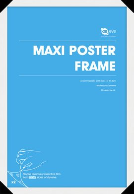 GB Posters 4 White Maxi Poster Frames 61x91.5cm Bundle