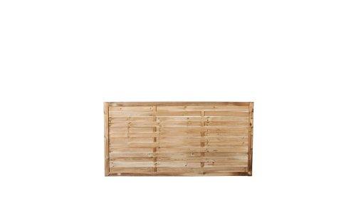 klassischer lamellenzaun vorgartenzaun mit den ma en 180 x 90 cm aus druckimpr gnierter kiefer. Black Bedroom Furniture Sets. Home Design Ideas