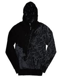 Iron Fist All Torn Up Mens Zip Hoody ( Blk) (Ironfist): Small