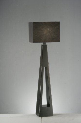 BLACK WOODEN SHANGRILLA FLOOR LAMP