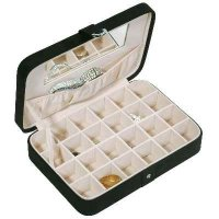 Mele Renee Sectioned Sueded Jewelry Box In Black 545-62m Picture