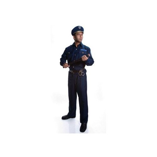 Police Officer Complete Set Adult Costume Size Small