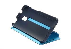 HTC 99H11284-00 One mini Flip Case mit Stand dunkelblau/hellblau insert retail blister