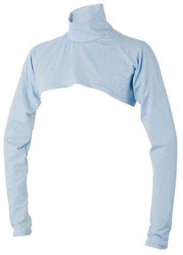 99.3% UVカット ショート丈 日焼け防止 首が凄く長い ハイネック インナーシャツ テニス ゴルフ ラン L スカイブルー