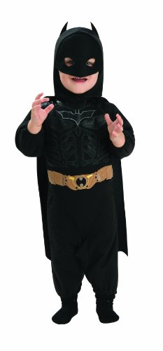 Batman The Dark Knight Rises Batman Romper, Multi-Colored, Newborn Costume