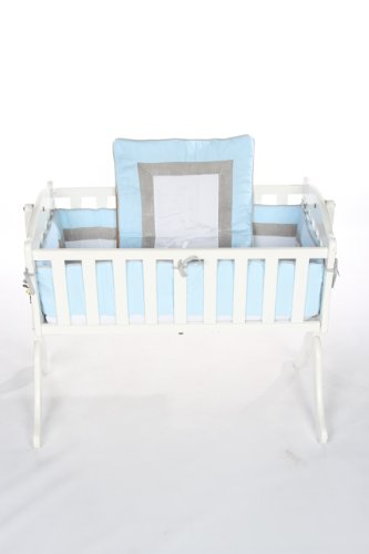 Baby Doll Bedding Classic II Cradle Bedding Set, Blue