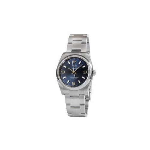 腕時計 Rolex Airking Blue Arabic Dial Domed Bezel Mens Watch 114200BLASO【並行輸入品】