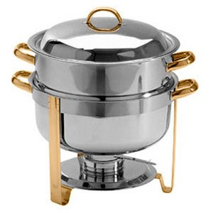 Where to buy Choice 14 Qt Deluxe Soup Chafer Gold Accent Round
