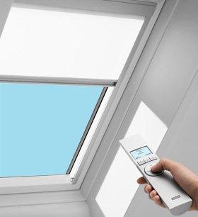 """Velux RSD-1028-C04 White Solar 21-1/2"""" x 38-3/8"""" Solar Roller Skylight Blinds"""