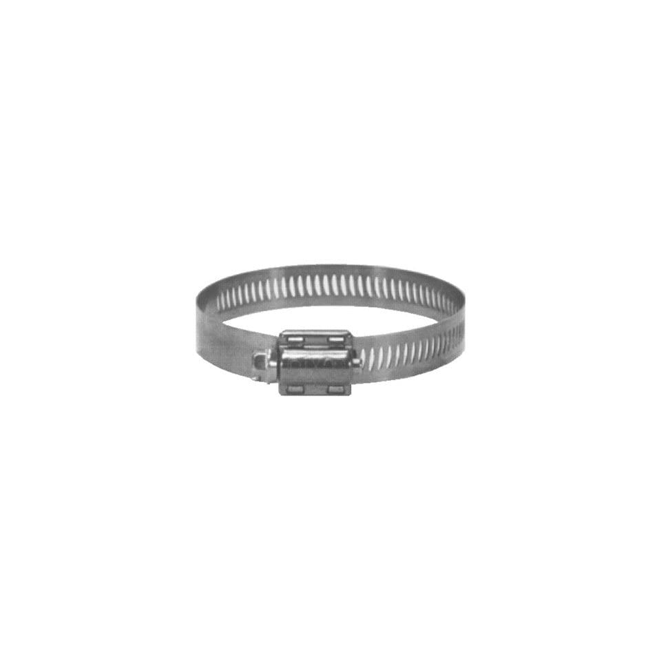 Dixon HS Style 300 Stainless Steel Worm Gear Hose Clamp, 1/2 Bandwidth, 1 9/16   2 1/2 Hose OD, SAE J1508, Box of 10