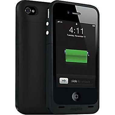 Black Mophie Juice Pack Plus - iPhone 4  4S Battery Case 黒