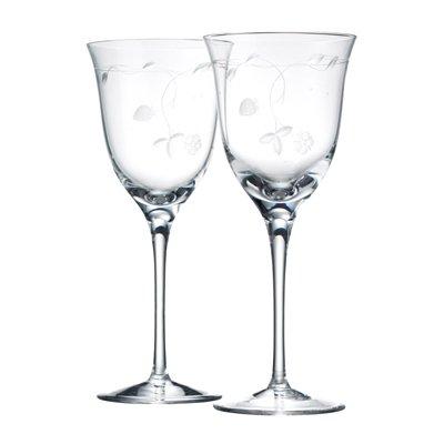 ウェッジウッド ワイルドストロベリー クリスタル オープンワイングラス ペアギフトセット
