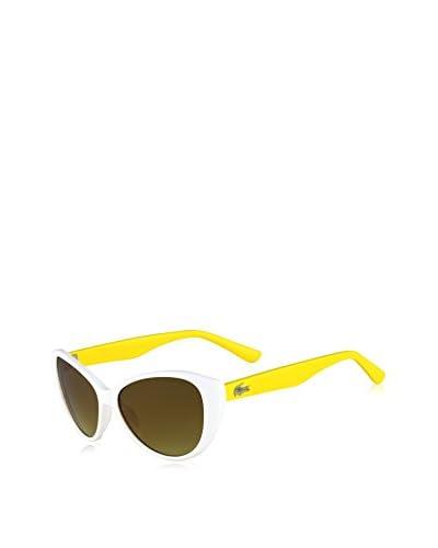 Lacoste Gafas de Sol Kids L3602S-105 (50 mm) Blanco / Amarillo