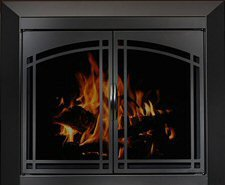 Residential retreat fairmont fireplace door for Residential retreat fireplace doors