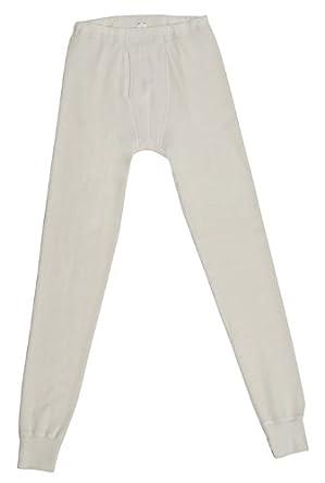 Men's Long-Underwear Pants, Organic Wool-Silk, Natural White, size L