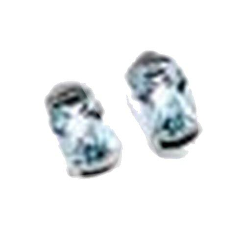 Schmuck Damen Paar Ohrschmuck Ohrringe Ohrstecker aus 585 Weißgold mit Blautopas Höhe ca. 9 mm Breite ca. 5 mm schenken