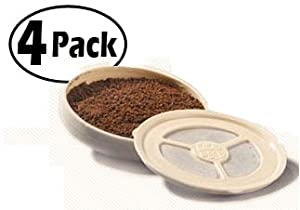 Ecopad 2-Pack The Permanent Refillable Coffee Filter for the Classic Senseo models HD7810-HD7819 4 filters on each pack- Create your own custom strength and Flavor