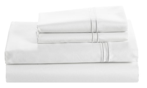 Cuddledown 400 Thread Count Sateen Fitted Sheet, Full, White front-1019194
