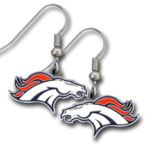 Denver Broncos Dangling Earrings - NFL Football Fan Shop Sports Team Merchandise