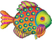 Prismatic Tropical Fish Helium Shape Balloon