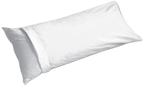 Great Deal! Fresh Ideas 100% cotton  20 by 54-Inch Body Pillow Cover, White