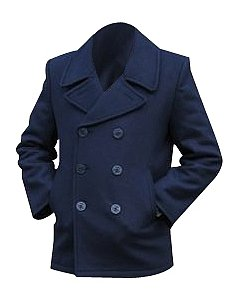 Mil-tec Dark Blue US Navy Pea Coat, Size- 48 inch