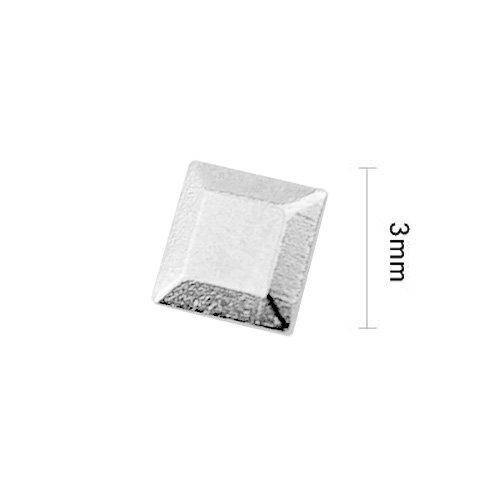 ネイルパーツ Nail Parts 3Dスタッズスクエア 50ヶ入 3.0mm