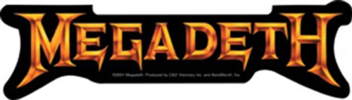 Licenses Products Megadeth Gold Logo Sticker