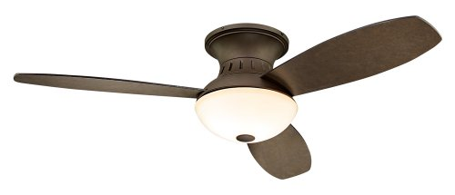 "52"" Possini Euro Encore? Bronze Hugger Ceiling Fan"