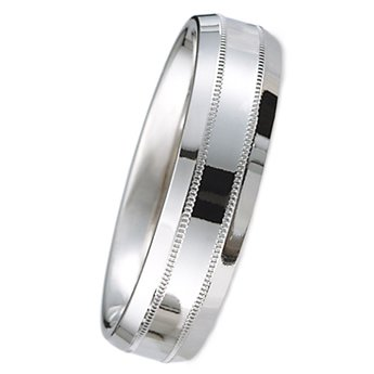 7.0 Millimeters Palladium 950 Cotemporary Wedding Band Ring, Comfort Fit Style SE5196PD0, Finger Size 4¼