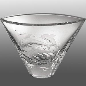 Engraved Crystal Vase