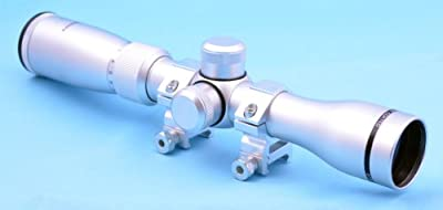 Hammers Long Eye Relief Pistol Scout Scope 2-7X32 Silver Chrome with weaver rings from Hammers