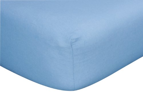 Trend Lab Flannel Crib Sheet, Blue