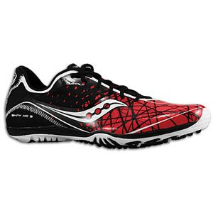 Saucony Men's Shay XC3 Flat Running Shoe,Red/Black/White,10 M US