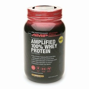 GNC Pro Performance AMP GNC Pro Performance AMP Amplified 100% Whey Protein, Vanilla 2 lb (Quantity of 1)