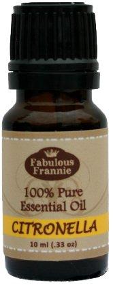 Citronella 100% Pure, Undiluted Essential Oil Therapeutic Grade - 10 ml. Great for Aromatherapy!