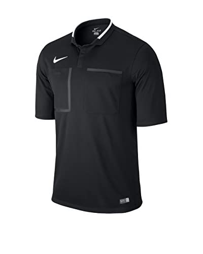 Nike Poloshirt Sleeve Top TS Referee Kit Jersey schwarz/weiß M