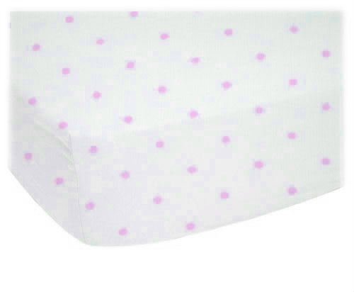 For Sale! SheetWorld Fitted Sheet (Fits BabyBjorn Travel Crib Light) - Pink Pindot Jersey Knit - Mad...