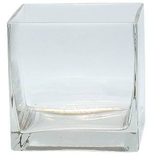 "6-Pack Clear Square Glass Vase - Cube 4 Inch 4"" X 4"" X 4"" - 6pc Six Vases 4x4x4"