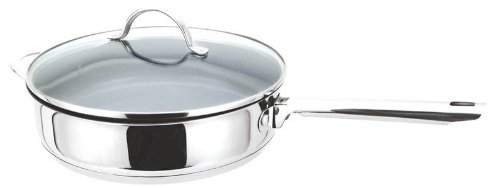 Green Cuisine 28cm/11 Inch Stainless Steel Saute Pan with Non Stick Ceramic Coating