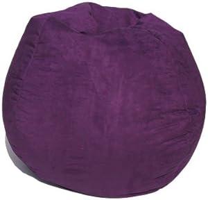 microsuede bean bag chair in purple adult beanbag chair. Black Bedroom Furniture Sets. Home Design Ideas