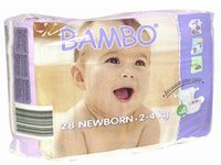 BAMBO® Ultra Absorbent Chlorine-Free Eco-Friendly Baby Diapers - Size 1 - Newborn - Fits 4.4 to 8.8 lbs - 28 Count (Pack of 1)