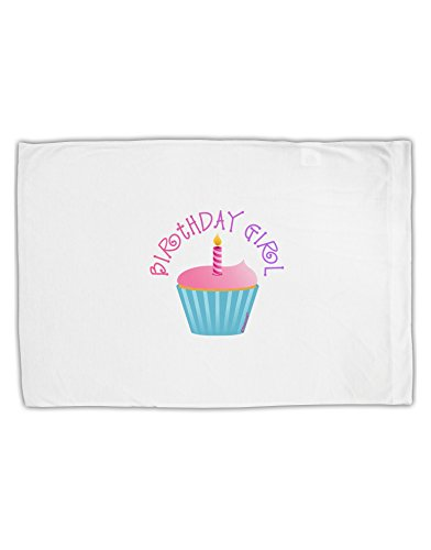 TooLoud Birthday Girl – Candle Cupcake Standard Size Polyester Pillow Case