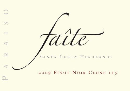 "2009 Paraiso ""Faite"" Pinot Noir Clone 115 Santa Lucia Highlands 750 Ml"