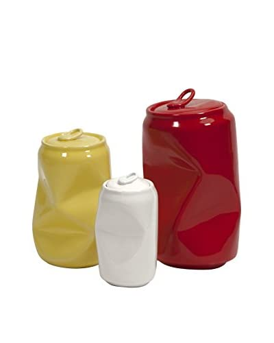 Set of 3 Harleigh Ceramic Cans