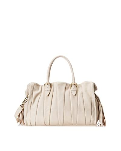 Carla Mancini Women's Jackie Soft Satchel, Ivory As You See