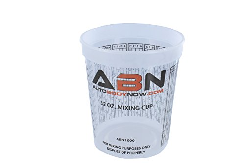 32 Ounce (1 Quart) Paint Mix Cups - Calibrated Mixing Ratios on Side of Cup - 12 Pack (Perfect For Mixing compare prices)