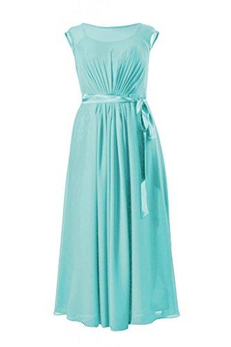 Daisyformals Long Chiffon Cap Sleeve Bridesmaid Dress(Bm7897)- Tiffany Blue