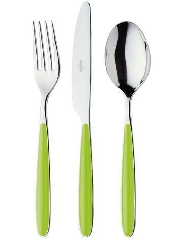 Morinox Servizio posate 24 pz in acciaio inox 18/10 Funny verde