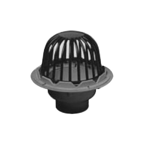 Oatey 78024 PVC Roof Drain with Cast Iron Dome, 4-Inch